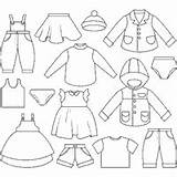 Coloring Outfits Clothes Colouring Printable Worksheet Clothesline Clipart Boy Different Template Drawing Paper Templates Teaching sketch template