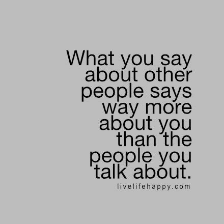 people who talk bad about others quotes