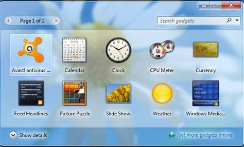 gadgets bureau windows 7 how to fix any corrupt windows 7 gadget geeky portal