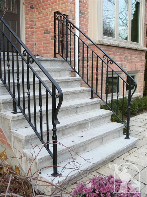 Custom fabricated stair railings on the front and/or back steps to enter your home or office, especially necessary for people who have difficulty going up and down slippery stairs, not only provide functional safety, but also add an inviting decorative accent. Exterior Railings in Toronto, Muskoka and the GTA ...