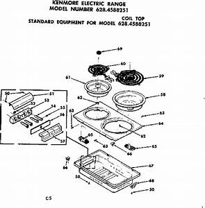 Kenmore 6284588251 Electric Range Parts
