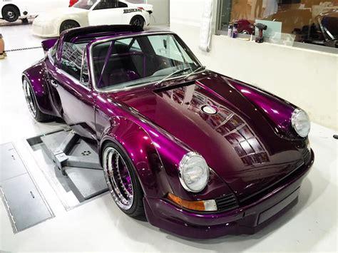 porsche rwb purple 1975 porsche 911 targa gets rauh welt begriff extreme