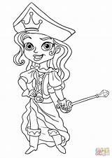 Coloring Pirate Princess Pirates Pages Jake Neverland Printable Supercoloring Boy Prince Worksheet Super Dragon sketch template