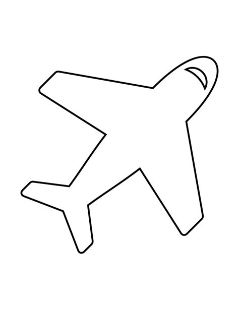 airplane template airplane stencil 79 h m coloring pages