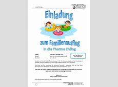 Einladung zum Familienausflug Bildung & Soziales News