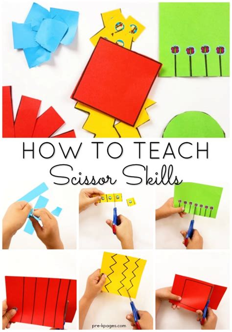 How To Teach Kids To Cut With Scissors In Preschool
