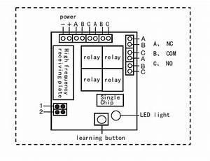 Wireless Garage Door 433 92mhz 4ch Remote Control Yet404pc