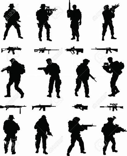 Clipart Silhouette Military Soldier Vector Silhouettes Clip