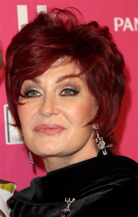 sharon osbournes short pixie gorgeous hairstyles  women    rosy
