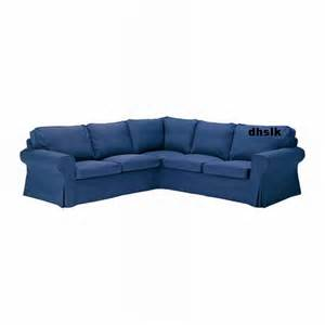 ikea ektorp 2 2 corner sofa cover slipcover idemo blue