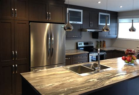 teindre armoire de cuisine cuisine en polyester avec comptoir stratifié armoires à