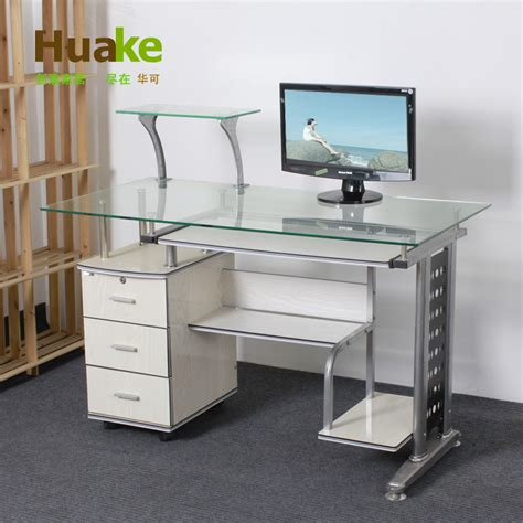 small glass computer desk small long 120 60 high 74cm wide white tempered glass