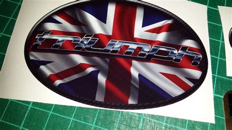 triumph union jack tank decals stickers  triple daytona