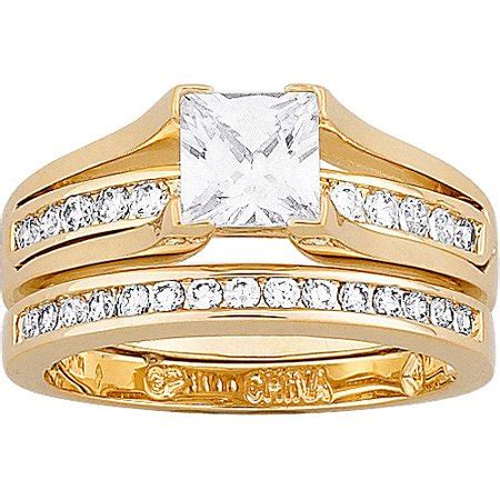 carat tgw cubic zirconia gold plated  piece
