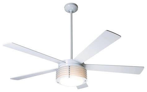 contemporary white ceiling fan 52 quot modern fan pharos gloss white with light ceiling fan