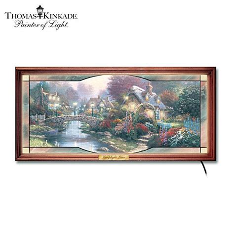 thomas kinkade quot garden of light quot stained glass panorama
