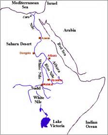 White Nile River Map