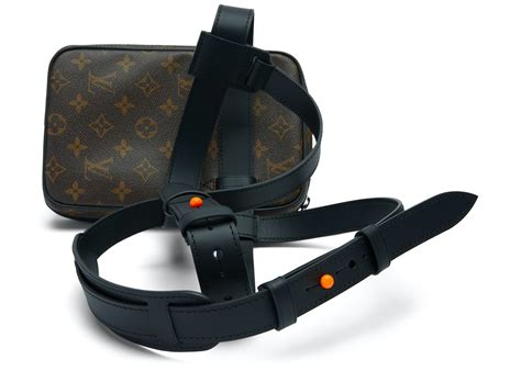 louis vuitton utility side bag monogram brown  canvas  orange black