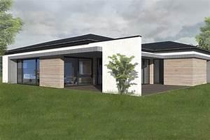 maison ossature bois plain pied With entree de maison design 6 maison ossature bois plain pied