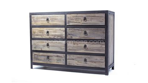 commode style industriel commode 8 tiroirs koroco mobilier moss