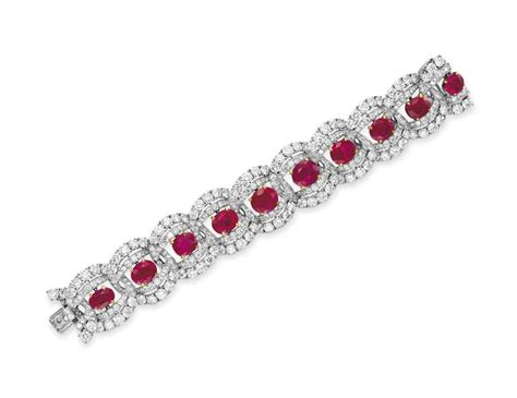 A Ruby And Diamond Bracelet, By Cartier  Christie's. Estate Diamond Bands. Black Agate Pendant. 7ct Diamond. Colors Emerald. Owl Rings. 3 Gold Necklace. Wedding Band Rings. Hand Crafted Wedding Rings