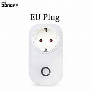 Interrupteur Compatible Google Home : sonoff s20 wifi prise de courant intelligente sans fil ~ Nature-et-papiers.com Idées de Décoration