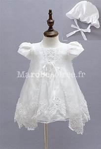 robe blanche bebe fille pour bapteme With robe de cocktail combiné avec chapeau bébé garçon