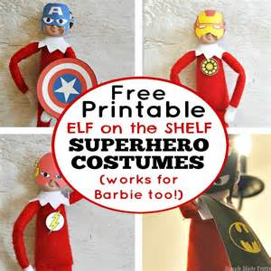 free printable on the shelf costumes simple made pretty