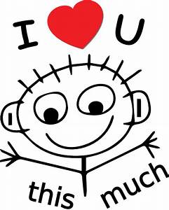 I Love You This Much Clip Art Image | PunjabiGraphics.com
