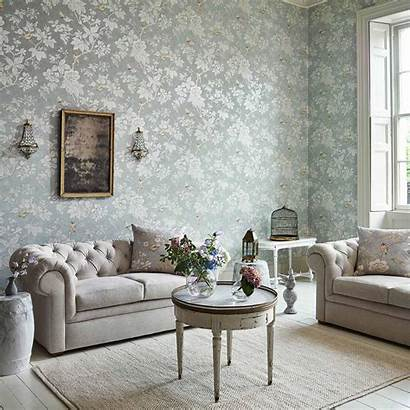 Sanderson Grove Chiswick Wallpapers Grey Silver Gold