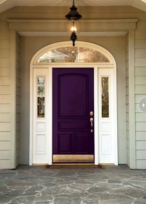 how to choose a front door paint colour purple door