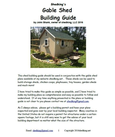 12x16 Gable Shed Materials List by 12x16 Garden Shed Plans