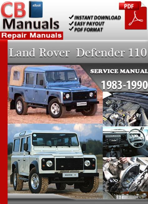 service repair manual free download 1986 land rover range rover on board diagnostic system land rover defender 110 1983 1990 online service manual download