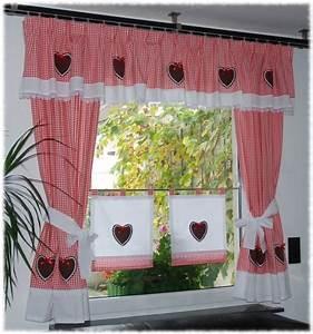 Vorhänge Rot Weiß : landhaus gardinen set 7 tlg rot von dekostudio chantal auf vorhang ~ Orissabook.com Haus und Dekorationen