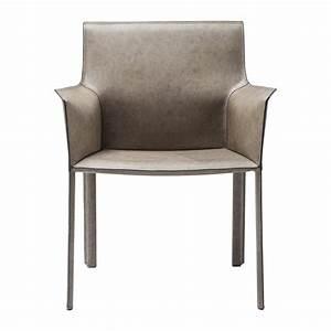 Chaise But Grise : chaise avec accoudoirs cuir gris fino kare design ~ Teatrodelosmanantiales.com Idées de Décoration