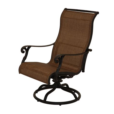 castle rock sling dining swivel patio furniture sun country