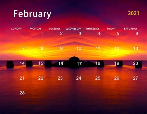 cute february  calendar desktop wallpaper
