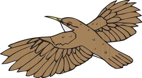Brown Bird Flying Clip Art At Clker.com