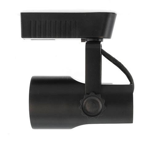 black theatrical style led low voltage track light fixture