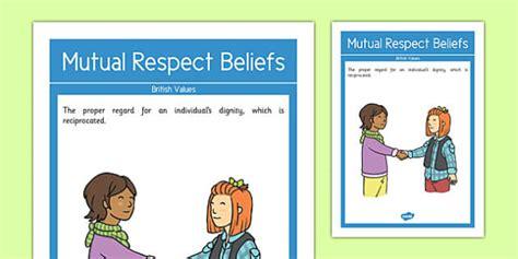 british values poster mutual respect   classroom