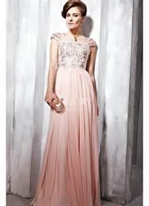 beaded bridesmaid dresses style cap sleeves beaded chiffon pale pink prom dress