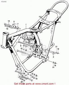 Honda Sl350 Motosport 1970 K1 Usa Frame