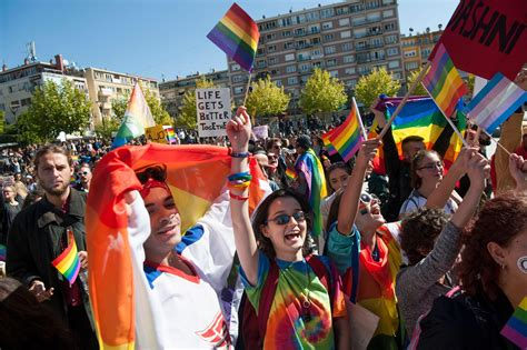 Gay Parade Meme - kosovo gay pride parade for lgbt rights is first ever in muslim majority nation on edge of