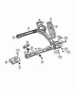 2011 Dodge Grand Caravan Axle Assembly  Rear  Suspension