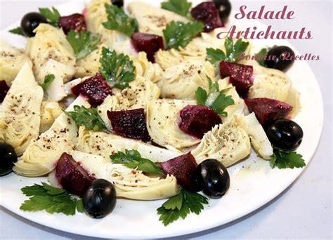 salade aux artichauts et aux betteraves
