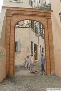 Mur Trompe L Oeil : peinture en trompe l 39 oeil sur mur de maison ~ Melissatoandfro.com Idées de Décoration