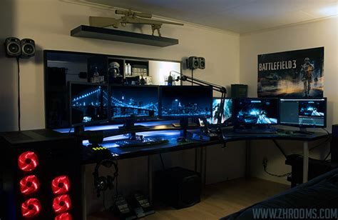 multi monitor gaming desk 30 coolest and inspiring multi monitor gaming setups