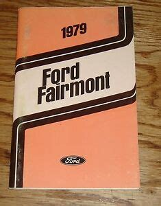 original  ford fairmont owners operators manual  ebay