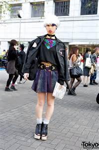 japan earrings tokyo girl 39 s white hair sequin sweater jeffrey cbell