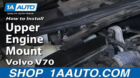install replace upper engine mount   volvo